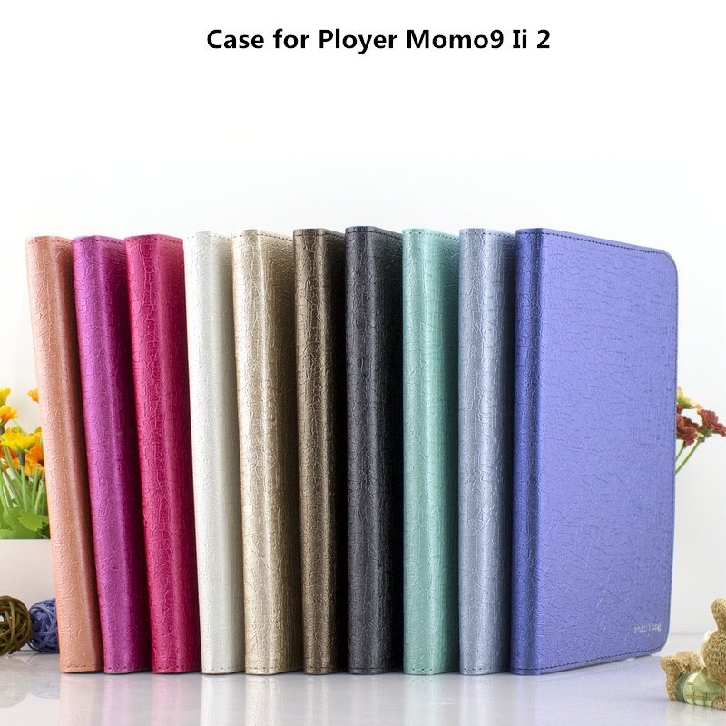 Universal leather Stand tablet Case for Ployer Momo9 Ii 2 case cover(China (Mainland))