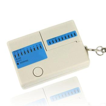 Hot selling New Pocket LED Ethernet 4 Port RJ45 RJ11 Cat5 Network LAN Cable Tester With Keychain
