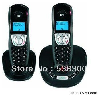Free Shipping Brand New BT4500 DECT Cordless Phone Wireless Telephone Set Dual Handsets Digital Home Phone(China (Mainland))