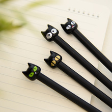 12pcs/lot Cartoon Black cat gel pen set Cute 0.5mm ink pens for writing papelaria Escolar Kawaii stationery Office school supply