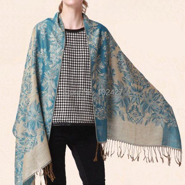 HOT Fashion Wool Cashmere Scarf Women Flower Long Autumn Winter Warm Wrap Scarves Shawl Pashmina Tassels Scarves Wholesale(China (Mainland))