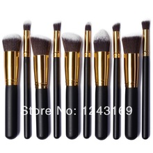 XCSOURCE Fashion Black with Gold Color 10PCS Pro Makeup Brush Concealer Eyeshadow Brushes Cosmetic Powder Tool