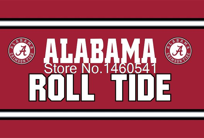 Alabama Crimson Tide ROLL TIDE US Flag 3ft x 5ft Polyester NCAA Alabama Crimson Tide Banner Size No.4 144* 96cm Custom Flag(China (Mainland))