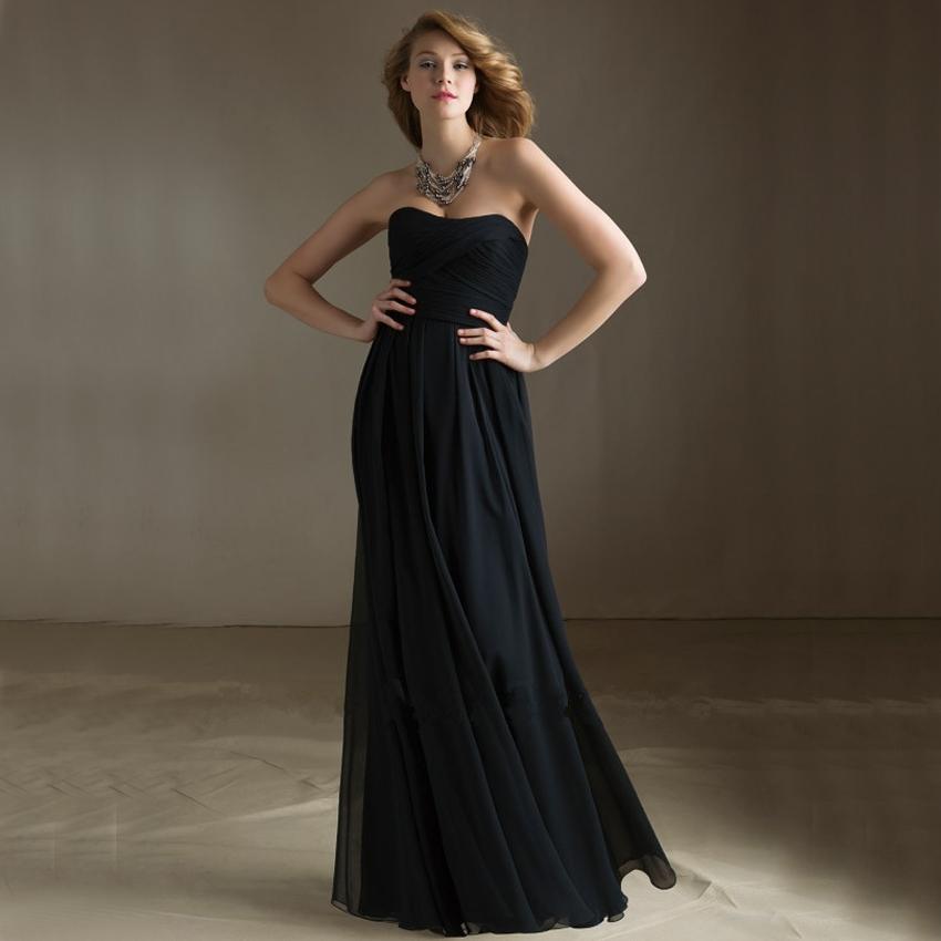 Long elegant cris cross strapless a line navy blue cheap for Navy plus size dress for wedding
