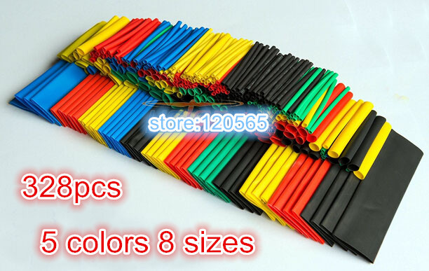 Assorted Heat Shrink Tube 328 Pcs for RC Hobbies Electronics Phantom Flamewheel(China (Mainland))