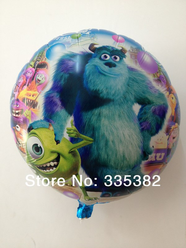 NEW arrivel 45*45cm Monsters University balloons for birthday party decoration 18 inch round Aluminium foil balloon helium <br><br>Aliexpress