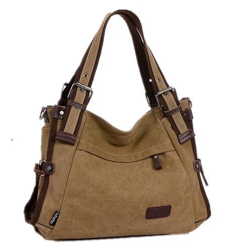 Canvas Shoulder Bags Casual Style For Women Handbags Brand Vintage Tote Women Messenger Bag Good Quality Trendy Shoulder Bags -3(China (Mainland))