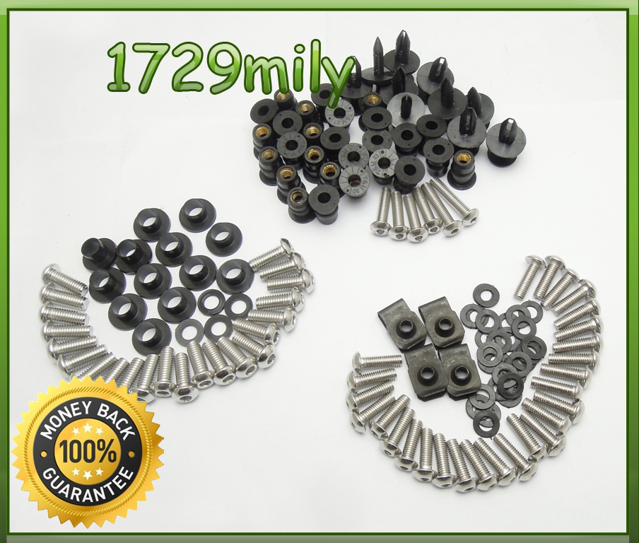 Complete Fairing Bolts Kit Body Screws For Kawasaki ZX6R 2005 2006 OEM fitment fairing bolt screw FBTKA003(China (Mainland))