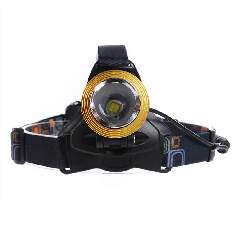 High Quality Headlamp Waterproof 2000 Luemns XML T6 LED Rechargeable Headlight Zoom Head Light Torch Flashlight + Car/AC Charger<br><br>Aliexpress