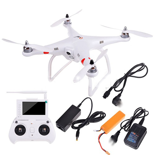 Free EMS Aerial Photography GPS Quadcopter RC UFO Drone Brushless Motor 4 Axis Vehicle, FPV Monitor&Controller 2 in 1(w/ battery(China (Mainland))