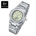 KEEP MOVING brand watch day calendar Stainless Steel Sport Watches for Men Fashion Quartz Wristwatches Relogio