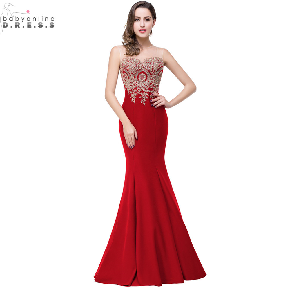 Robe de Soiree Longue Sexy Backless Red Mermaid Lace Evening Dress 2017 Long Cheap Appliques Evening Gowns Vestido de Festa(China (Mainland))