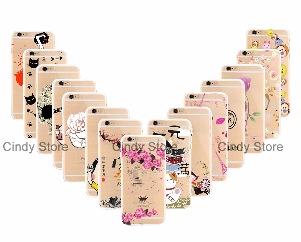 Soft TPU Silicone Case Cover FOR Huawei Honor 7 Clear Rose Deer Girl Cat Skull Bear Home Tower(China (Mainland))