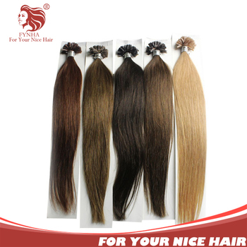 Free shipping 100g/pac grade 6a natural straight remy hair u tip keratin fusion human hair extension 18''-24'' can be customized