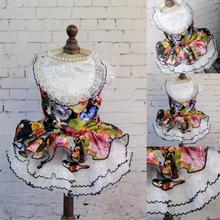Wedding Dress for Small Dogs Clothing Dress Pet Skirt Floral Cat Dress Dog Clothes XS S M L XL(China (Mainland))