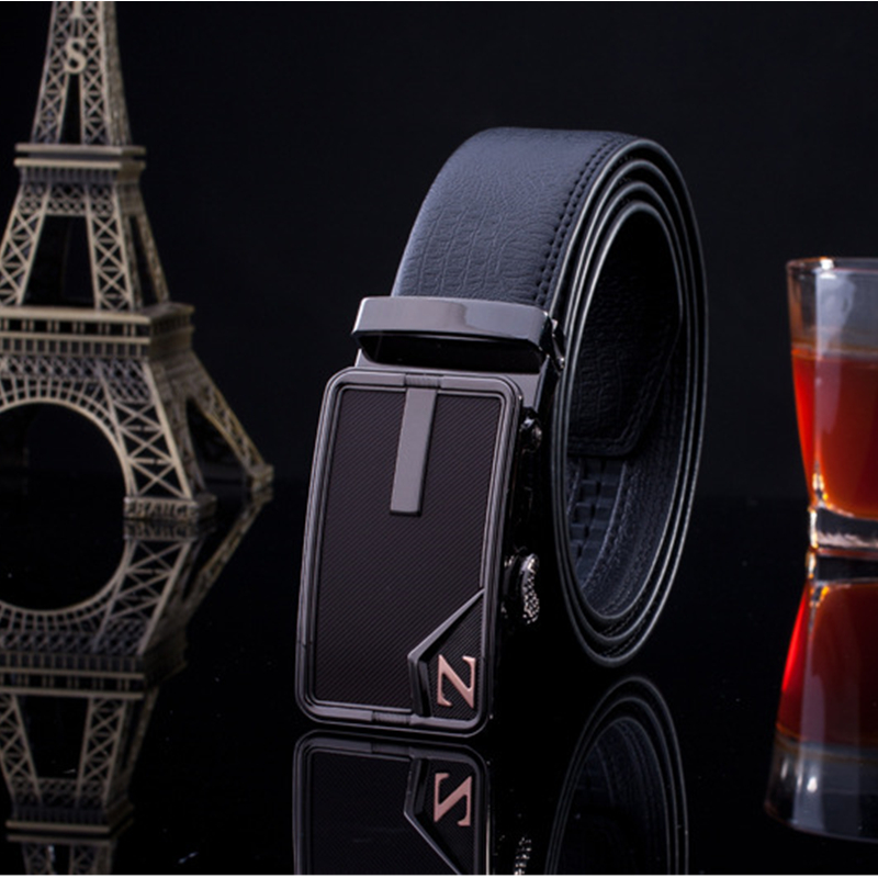2016 Brand New Cowskin Men Luxury Belt Automatic Metal Buckle Genuine Leather Belt Business Cowhide Waist Strap Cinto Feminino(China (Mainland))