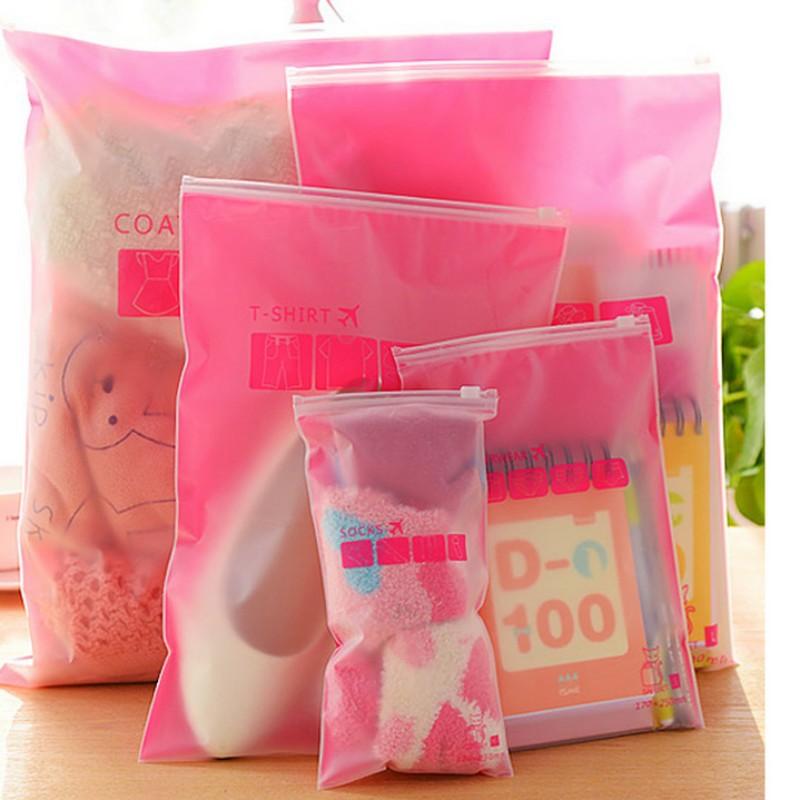 8pcs/sets Transparent waterproof Clothes socks/underwear bra shoes storage bag travel Wash protect cosmetics plastic storage bag(China (Mainland))