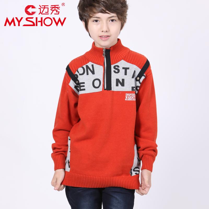 2014 Spring Boy 100 Cotton Turtleneck Sweater Child Shirt