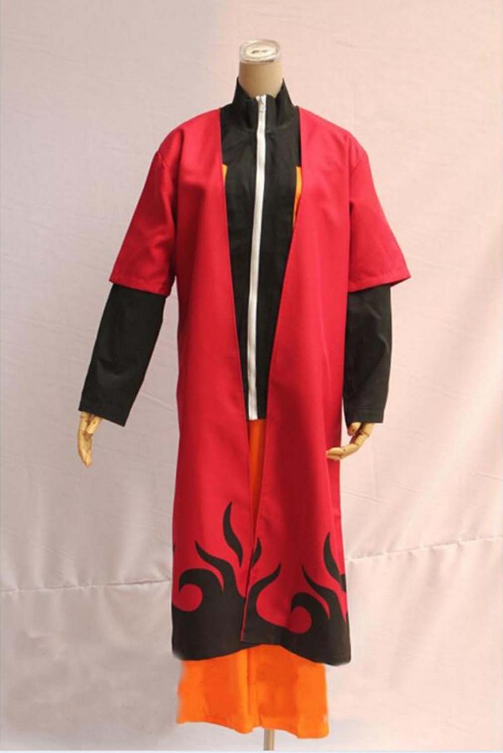 New Fashion Unisex Naruto Cosplay Costumes Japan Anime Uzumaki Naruto Cosplay Robes Cool Man Cool Woman Cosplay Costumes(China (Mainland))