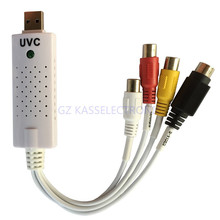 2015 new uvc capture, capture any analog video audio to digital format, rca to usb connect for MAC, Windows, Linux