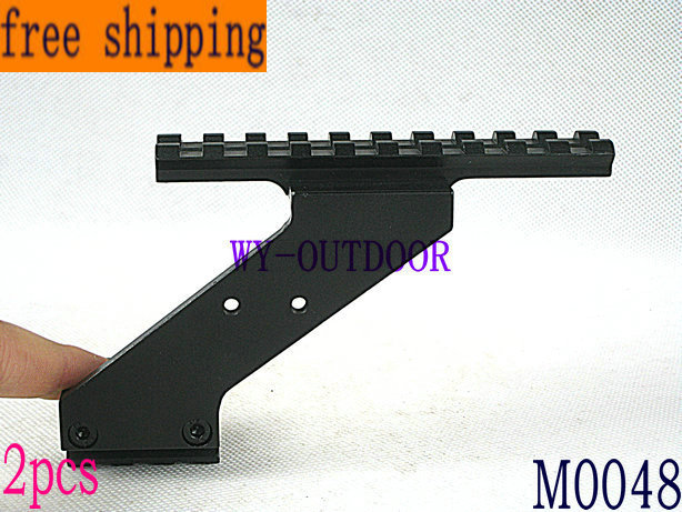 FRRE SHIPPING 2pcs UNIVERSAL TACTICAL PISTOL SCOPE MOUNT WEAVER & PICATINNY RAIL SIGHT LASER LIGHT M0048(China (Mainland))