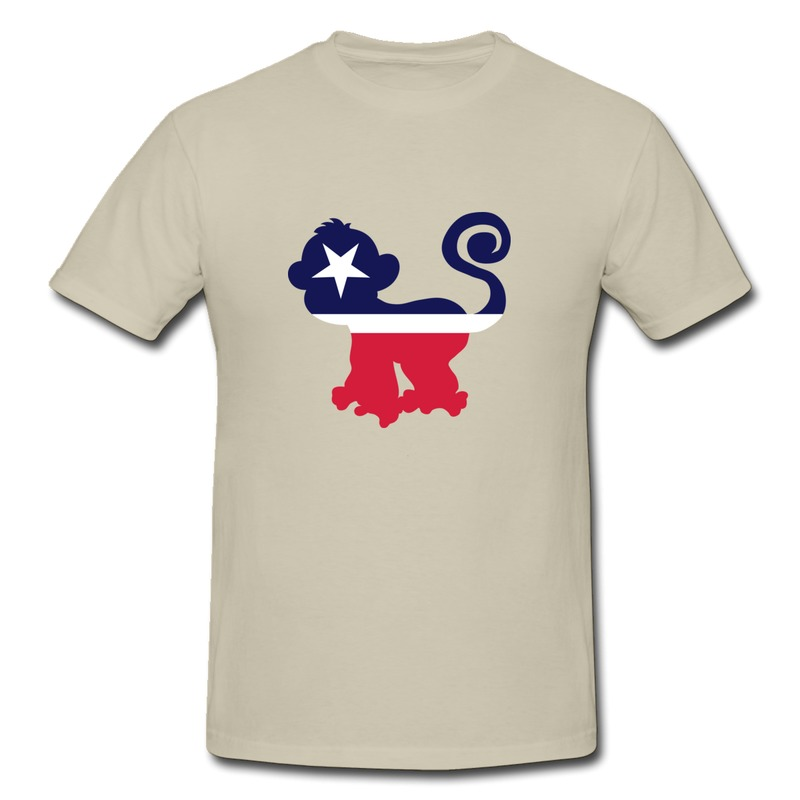 Low price short sleeve men 39 s tee vote monkey party custom for Lowest price custom t shirts