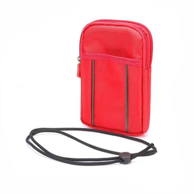 Dual Zippered Portable Outdoor Universal Phone wallet Belt Bag Hook Loop Mountaineering bag wrist pack sport bag(China (Mainland))
