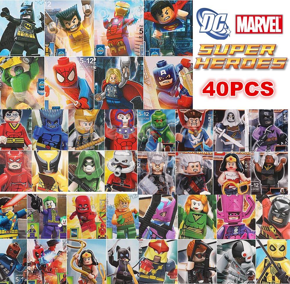 Japanese Superheroes Marvel 40pcs Marvel dc Superhero