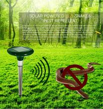 Outdoor Garden Safe Harmless Solar Power Ultrasonic Gopher Mole Snake Mouse Pest Repeller Control Yard safety Free Shipping(China (Mainland))