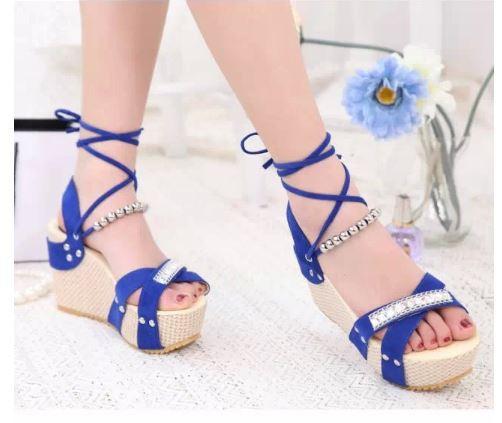 Womens Blue High Heels