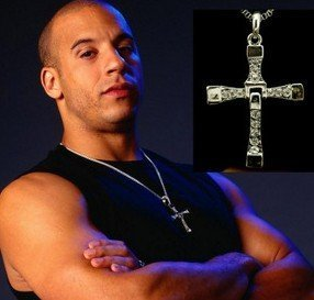 2014New Factory Price Fashion Jewelry The Fast and The Furious Toretto Men Classic Style CROSS Necklace NJ-0110