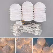 Aladin 3M 20 White Tone Creative Cotton BALL String Light For Xmas Feast Banquet Decoration Ornament(China (Mainland))