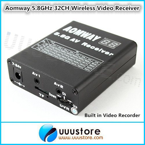 Aomway DVR 5.8G/5.8GHz 32ch Wireless Video Receiver with Built in Video Recorder for Fatshark ImmersionRC FPV System(China (Mainland))