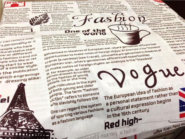 Achetez en gros anglais journaux en ligne des grossistes anglais journaux c - Tissu imprime journal ...