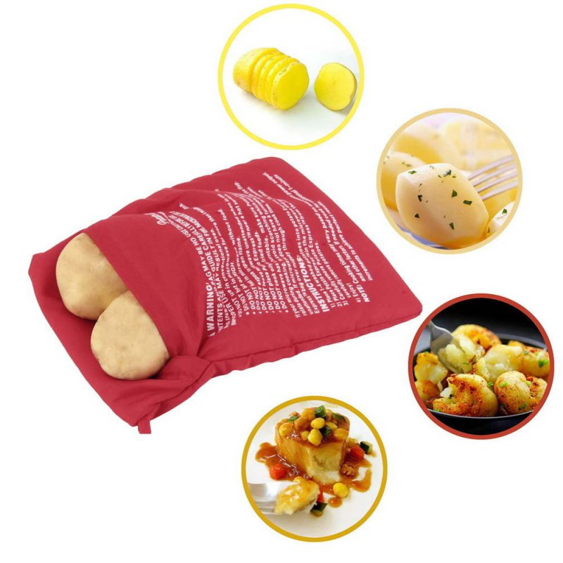 2 pcs Potato Corns Bread Microwave Cooker Bags Washable Oven Baked Cooking Roast Tool(China (Mainland))