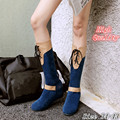 Spring Autumn Winter Women Mid Calf Boots Wedges Height Increasing Woman Knee High Boots Ladies Shoes