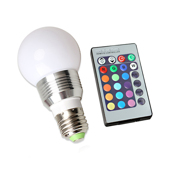 5W RGB LED Bulb Light Lamp with IR Remote Controller 16 Color Change Lamp CLH(China (Mainland))