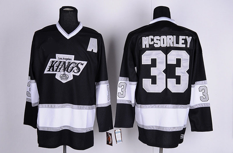 Los Angeles Kings Jersey #33 Martin Mcsorley Throwback Vintage LA Kings Mens Hockey Jersey Accept Wholesale & Retail Size M-XXXL(China (Mainland))