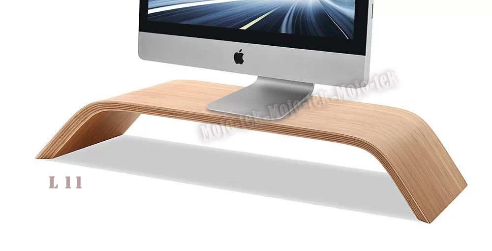 Free Shipping Universal PC Stand Wood Platform Riser Holder For iMac LCD Monitors Macbook Pro/Air Notebook Tablet Computers(China (Mainland))