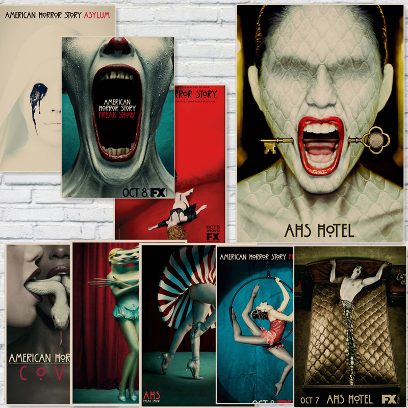 Online get cheap wall stickers american horror story for American horror story wall mural