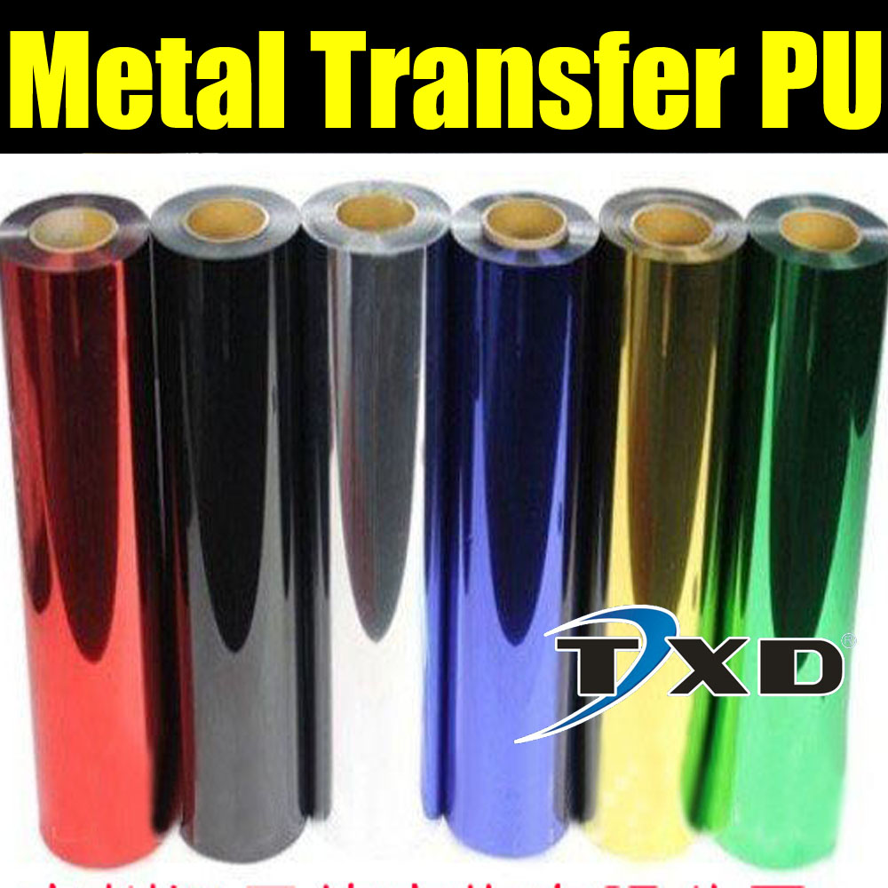 Metallic heat transfer film for shirts,Heat Transfer Vinyl 50cm*25m/roll with 3 colors for choice red,silver and gold color(China (Mainland))