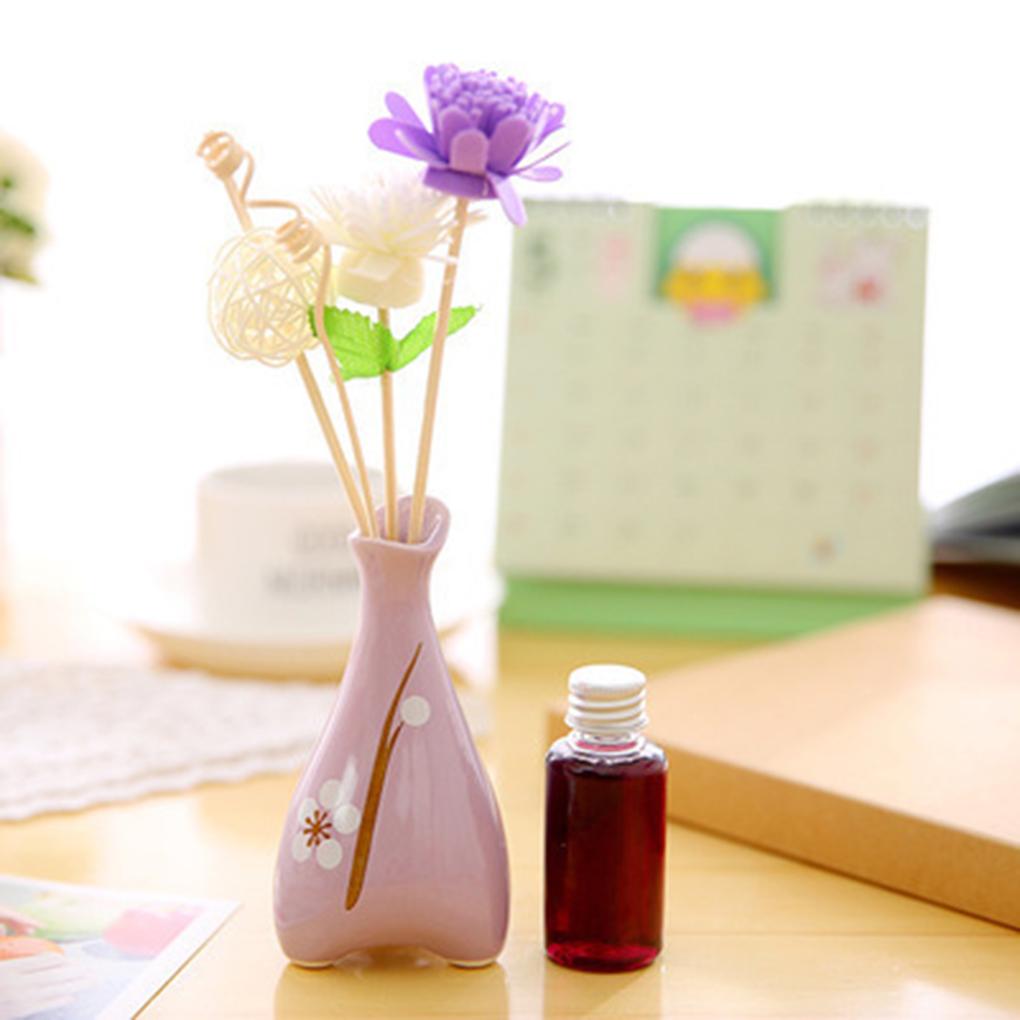 High Quality 1Set Three Foot Print Wood Dry Flower Rattan No Fire Aromatherapy Set Incense Sticks Essential Oil(China (Mainland))