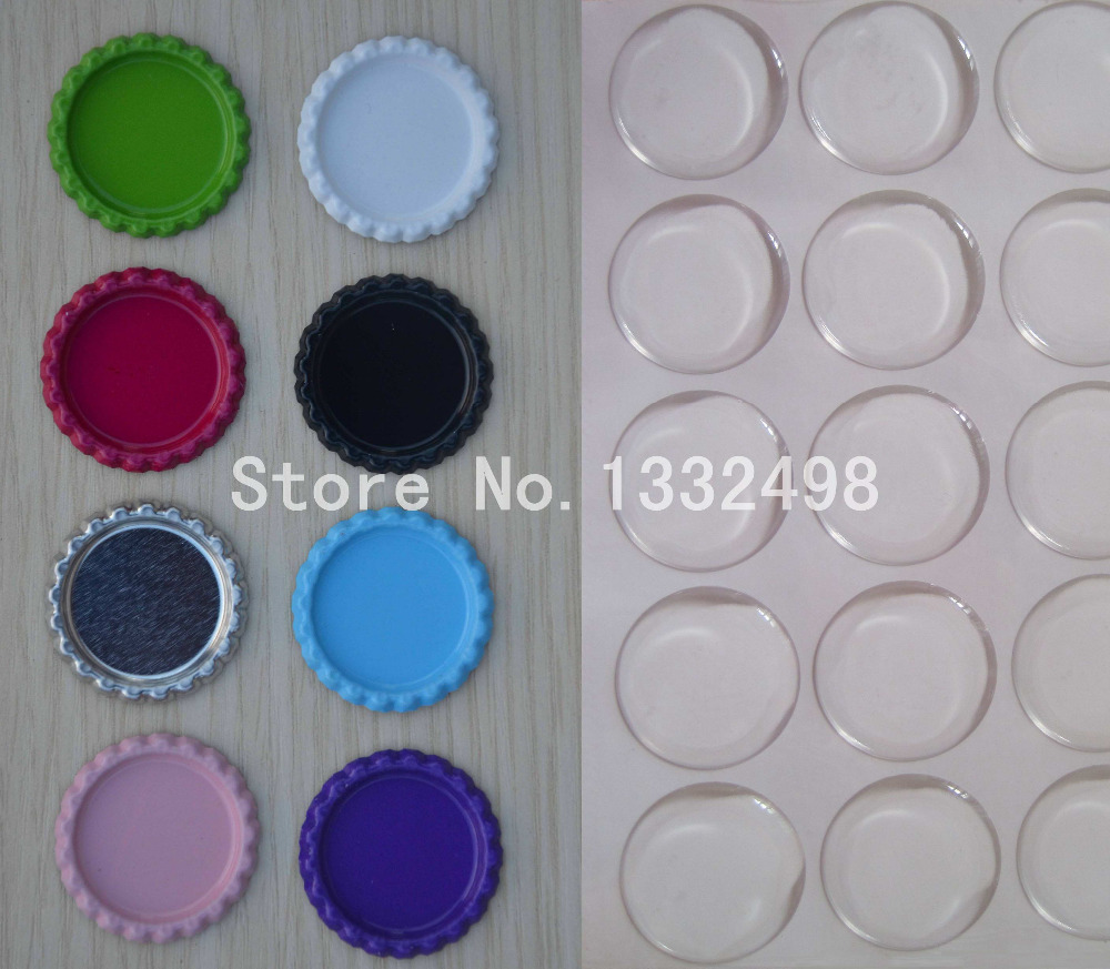 Mix order 100 pcs double side colored flattened bottle for Wholesale bottle caps for crafts