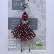 new spring  dress Doll pendant necklace can use as  keychian keyring sweater chain Jewelry woman necklace lovely dress pendant(China (Mainland))