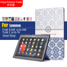 Buy Case Lenovo Tab 2 A10-70F/L Tablet Cover 10.1 inch Painted Stand Flip Lenovo A10-30 X30F /tab3 10 business Tablet case for $9.57 in AliExpress store