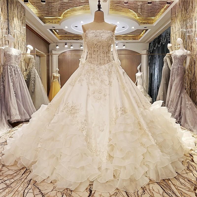 LS48575 princess wedding dresses corset back crystal long sleeves ball gown luxury arab wedding dress for brides real photos(China (Mainland))