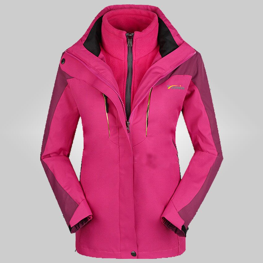 2015 new winter women three one clothes two sets cashmere lovers, climbing skiing jacket S-2XL 185df