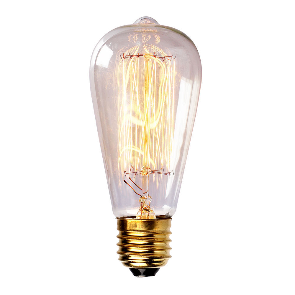Incandescent Bulbs Vintage Straight Tungsten Filament Edison Light Bulb 40W 110V/220V Free Shipping 2015 New Hot Sale ST64(China (Mainland))