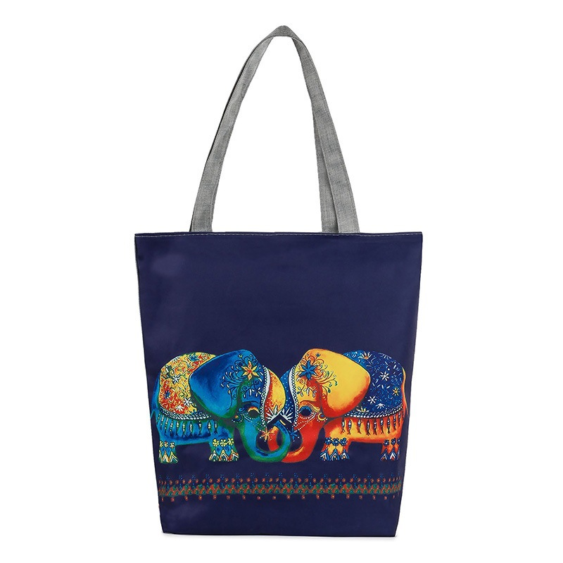 2016 Promotion Special Offer Tote Canvas Totes An Elephant Bag Exotic Folk Style Tourist Attractions Shoulder Hand Cloth Border(China (Mainland))