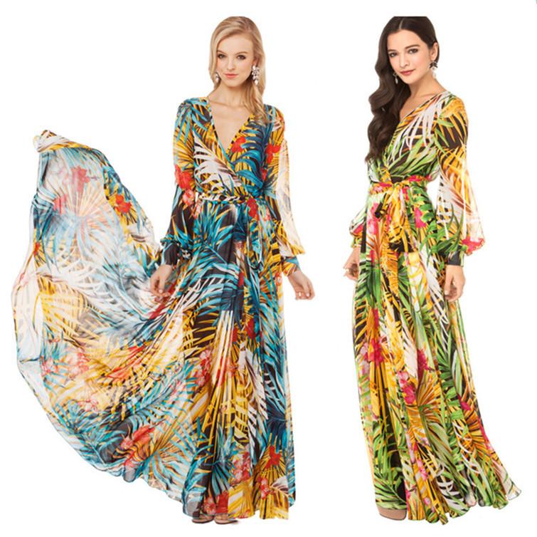 New fashion New Boho Hippie Sexy Summer Evening/Party Sundress Long Maxi Dress(China (Mainland))